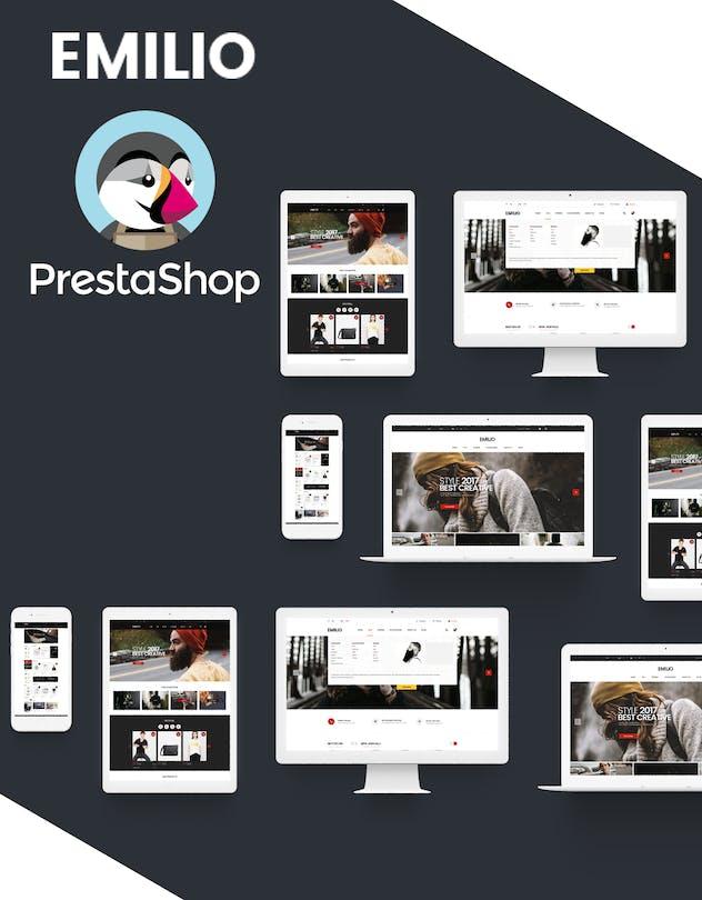 Emilio Responsive PrestaShop 1.6 & 1.7, Electronic - product preview 1