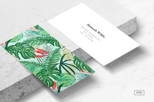 Thumbnail for The Tropics Business Card Template