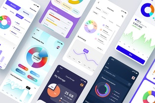 Thumbnail for Statistics and Pie Chart - Mobile App Template
