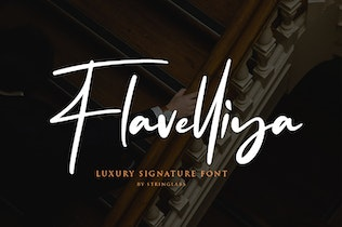 Thumbnail for Flavellya - Luxury Signature Font