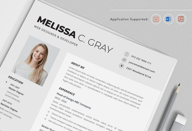 CV Resume Vol.20 - product preview 1