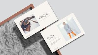 CINTYA - Минимальный Шаблон Powerpoint
