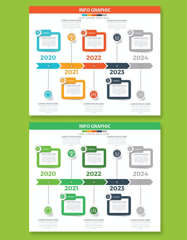 Timeline Infographics design - product preview 2