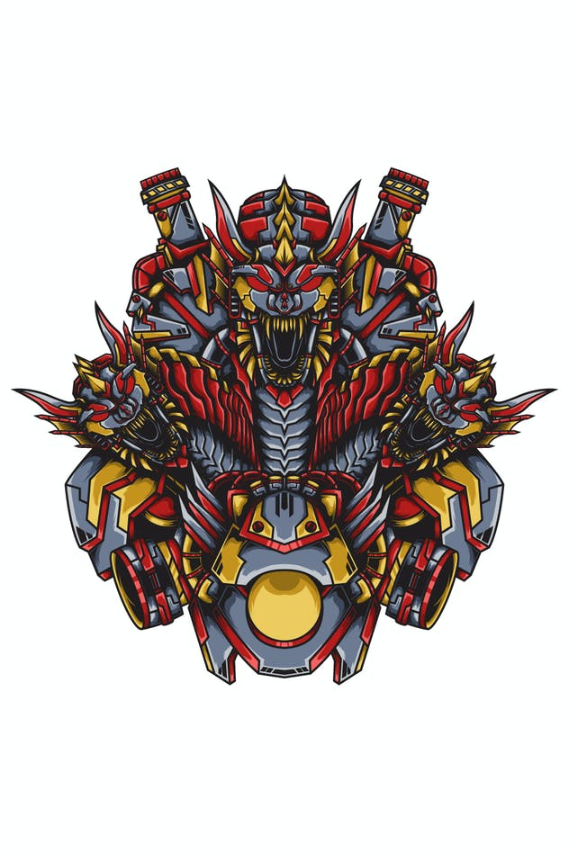 Hydra Dragon Mecha - product preview 1