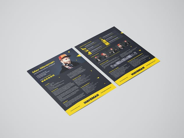 Modern DJ Press Kit / Resume / Rider Template - product preview 3