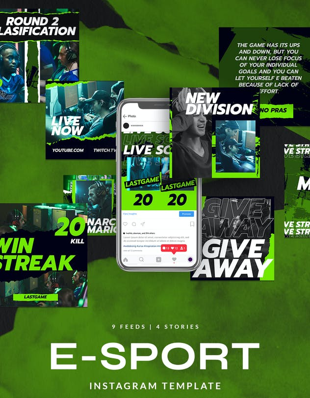 eSport & Gaming Instagram Template V.07 - product preview 1