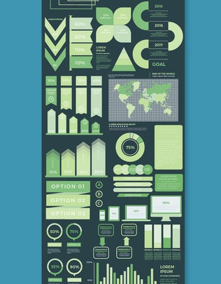 Миниатюра для Инфографический дизайн плоских элементов