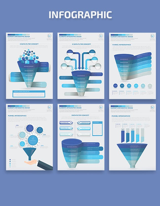 Blue Filter Funnel Infographics - product preview 3
