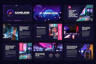 Thumbnail for Gameleon - Gaming Studio Google Slides Template