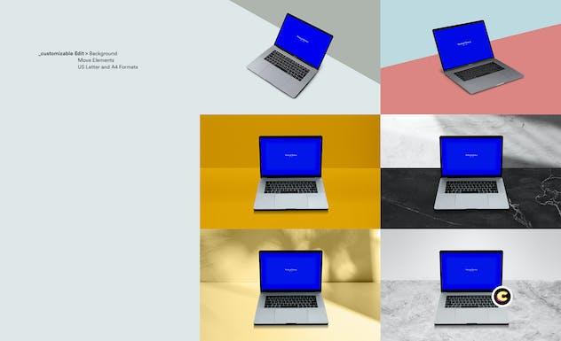 Macbook Laptop Display Web App Mock-Up - product preview 1