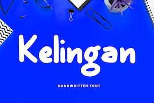 Thumbnail for Kelingan Exciting Handwritten Font
