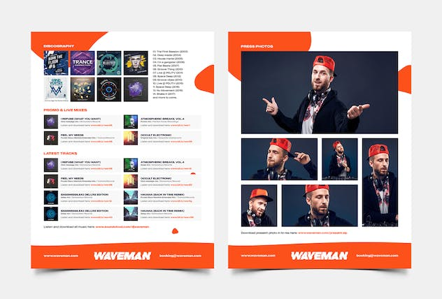 DJ & Producer Press Kit / Resume / Rider Template - product preview 2