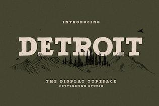 Miniatura para Detroit - Slab Con serifa Tipo de letra