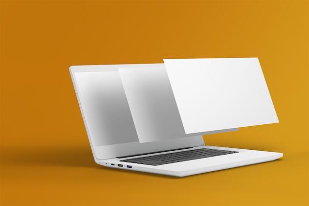 Laptop screen mockup Vol 03