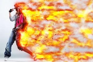 Миниатюра для Burnum - Огненный шторм Photoshop действие