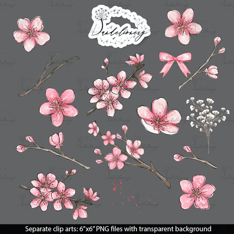 Cherry Blossom design - product preview 2
