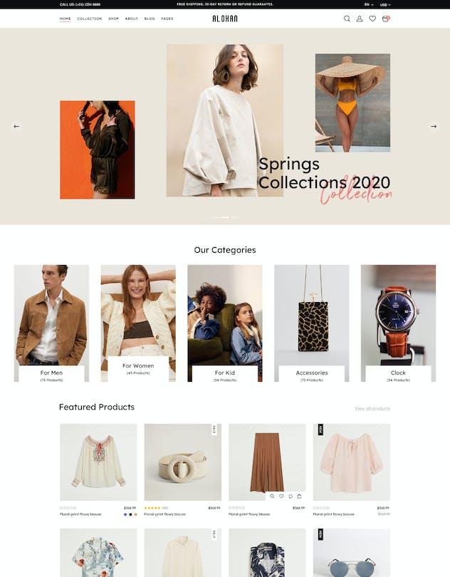 Alohan | Minimalist Fashion PSD Template - product preview 10
