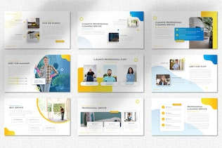 Cleanfio - Cleaning Service Powerpoint Templates