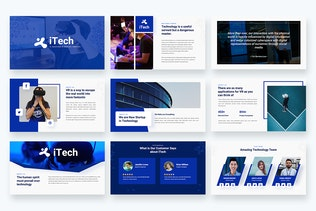 Thumbnail for iTech - IT Solutions & Services Keynote Template