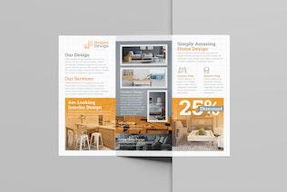 Thumbnail for Interior Design Trifold Brochure