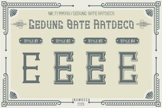 Thumbnail for GS.ArtDeco Family Font