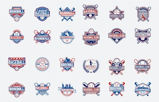 Thumbnail for 173 Sports Badges and Logo Bundle
