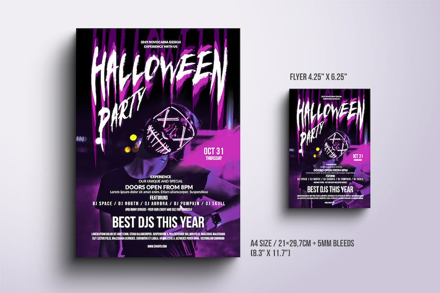 Halloween Party Poster & Flyer v3 - product preview 1