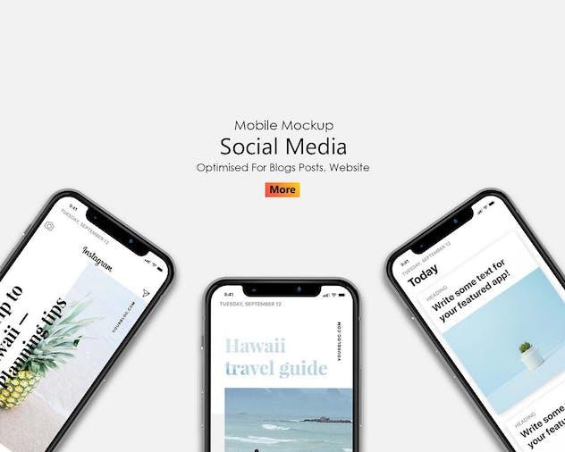 Simple - Mobile Mockup Social Media