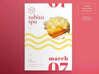 Thumbnail for Spa Salon Flyer and Poster Template