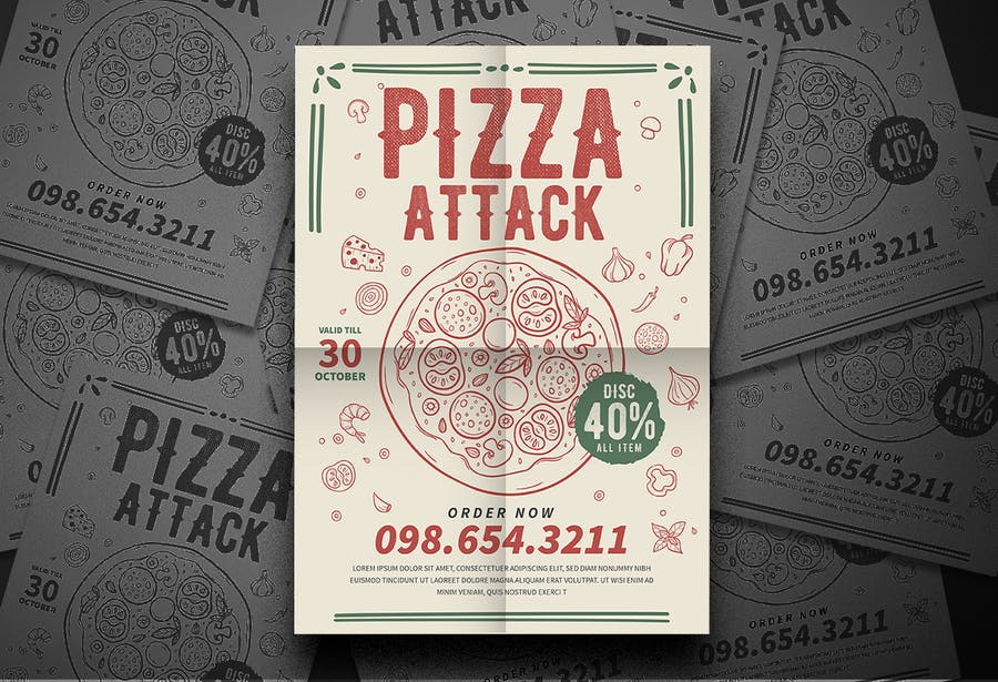 Pizza Party Flyer - product preview 2
