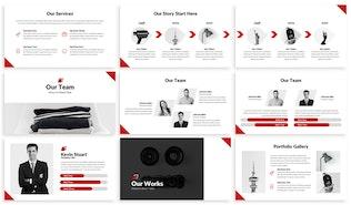 Thumbnail for Redbiz - Biz Google Slides Presentation Template