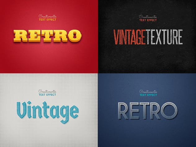 Vintage Retro Text Effects Col 8 - product preview 1