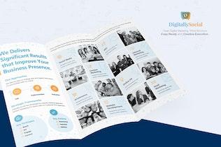 Thumbnail for Clean Digital Marketing Trifold Brochure