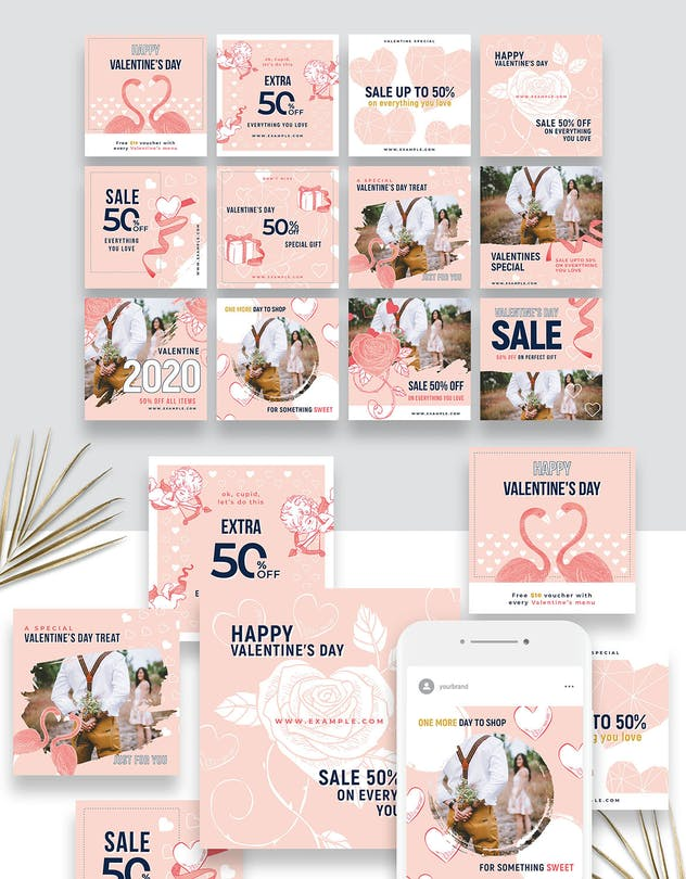 Valentines Instagram Templates - product preview 8