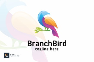 Thumbnail for Branch Bird - Logo Template