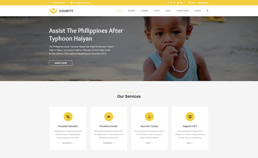 Charity - Nonprofit, Fundraising Joomla Template - product preview 1