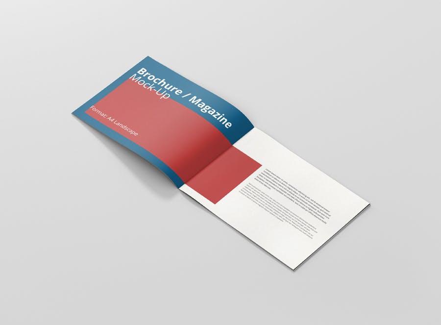 Preview image 9 for А4 Ландшафтная брошюра/Журнал Mock-Up