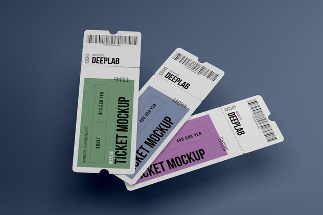 Event Ticket Mockup Set - product preview 6