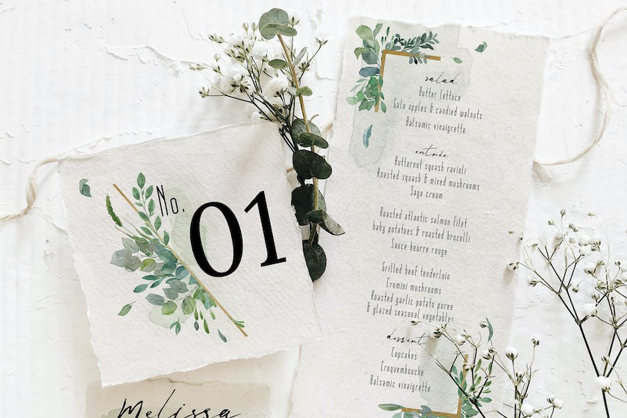Gold & Greenery Wedding Suite - product preview 4
