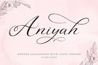 Thumbnail for Aniyah - Calligraphy Script