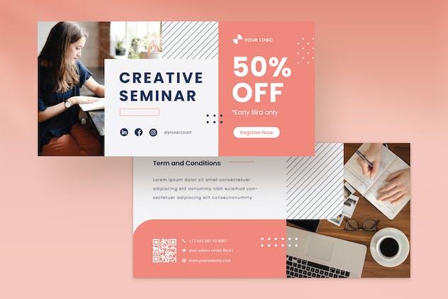 Voucher Template Vol.03 Creative Seminar