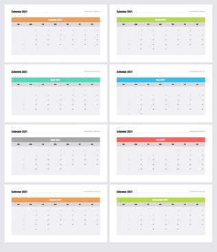 Calendar 2021 for PowerPoint by Site2max on Envato Elements
