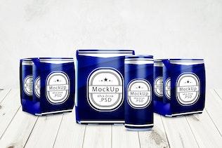 Thumbnail for Drink Can & 6 Pack Mockup V.2