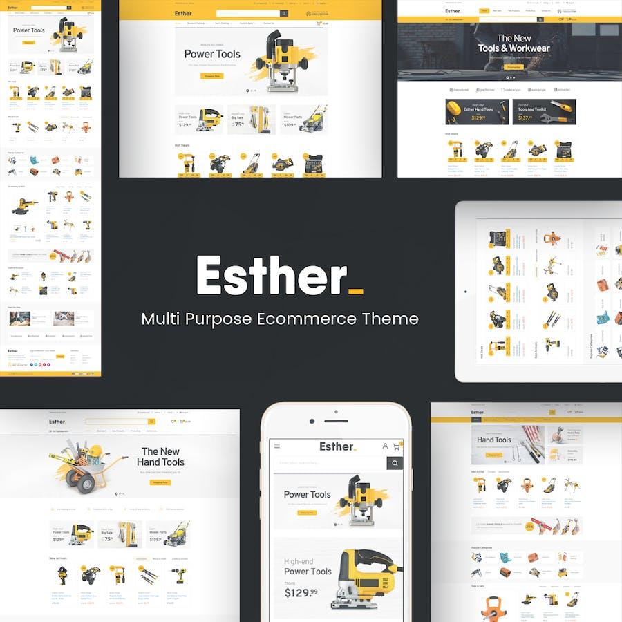 Esther - Responsive Prestashop Theme - product preview 1