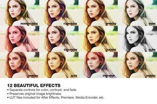 Vista en miniatura para Looks Premium Photoshop Acciones (Vol. 2)