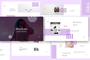 Thumbnail for Marlynn - Branding Guidelines Powerpoint