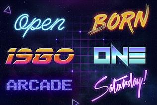 Thumbnail for 80s Retro - Photoshop Layer Styles