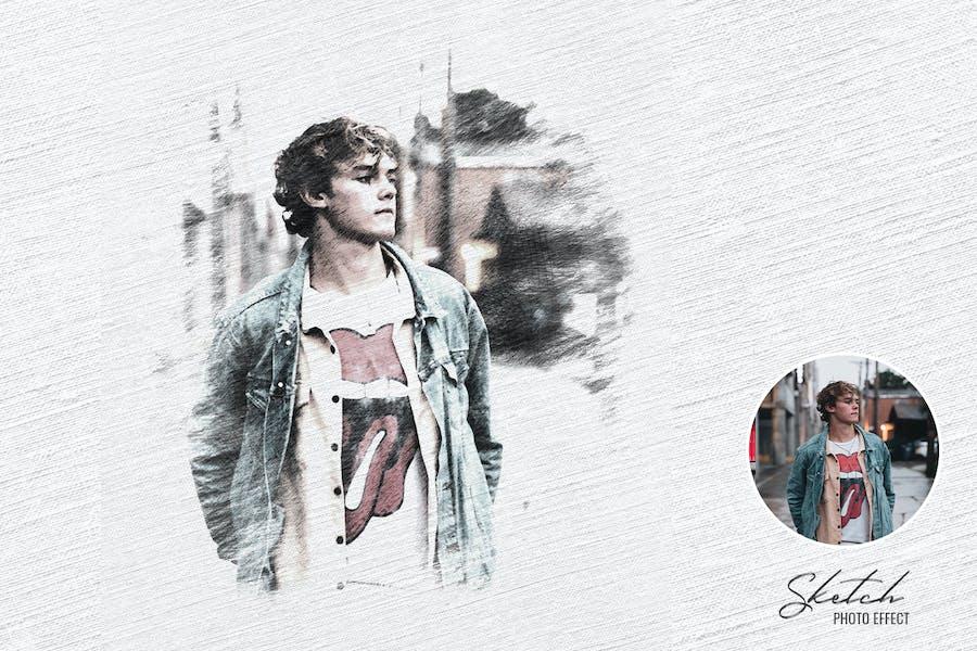 Pencil Sketch Portrait Photoshop Effect