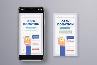Online Donation Flyer Set