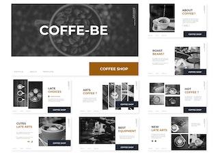 Миниатюра для Кофе - Быть   Шаблон слайдов Google